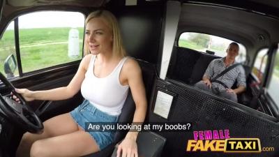Taxi falso Nathaly Cherie y taxi en video porno