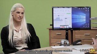 LOAN4K- Chica que viene a entrevista de trabajo y sexo en la oficina